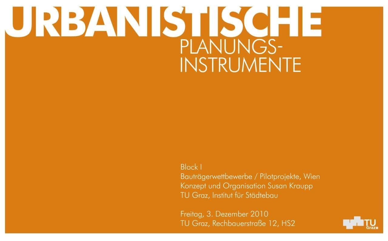 Urbanistische Planungsinstrumente II