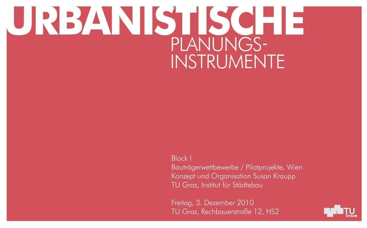 Urbanistische Planungsinstrumente I